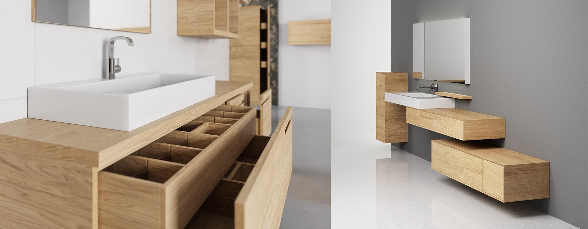 Designer Bathroom Furniture With Solid Wood, Real Wood Bathroom Furniture